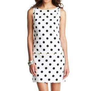 Ann Taylor LOFT Dress Sz 10 Polka Dot